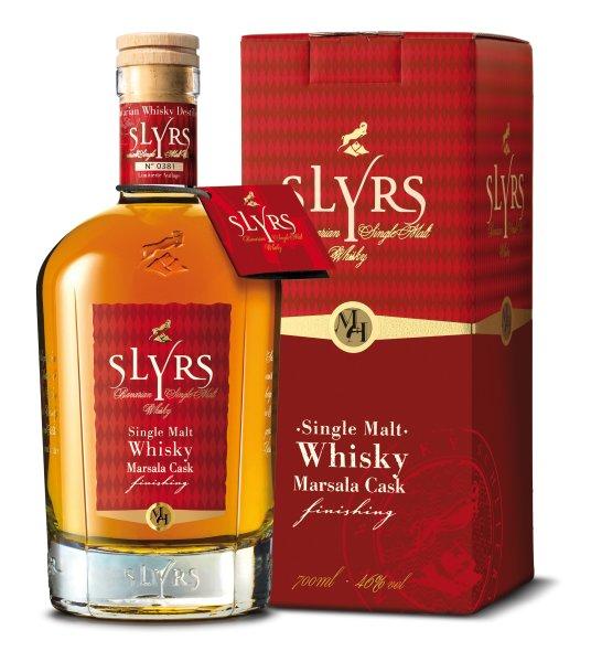 Slyrs Single Malt Whisky finished im Marsala Faß Obstler land