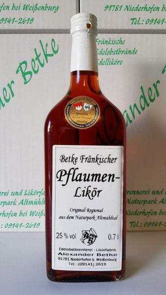 Betke Fränkischer Pflaumelikör 700 ml. 25%vol.