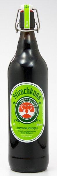 Hirschkuss Kräuterlikör 1000 ml. 38% vol