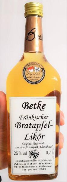 Betke Fränkischer Bratapfel-Likör 700 ml. 25% vol.